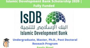 """Islamic Development Bank Scholarship 2020"""