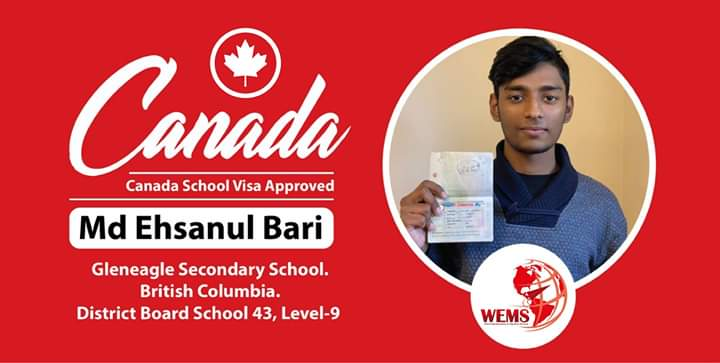 Study in Canada From Bangladesh with WEMS