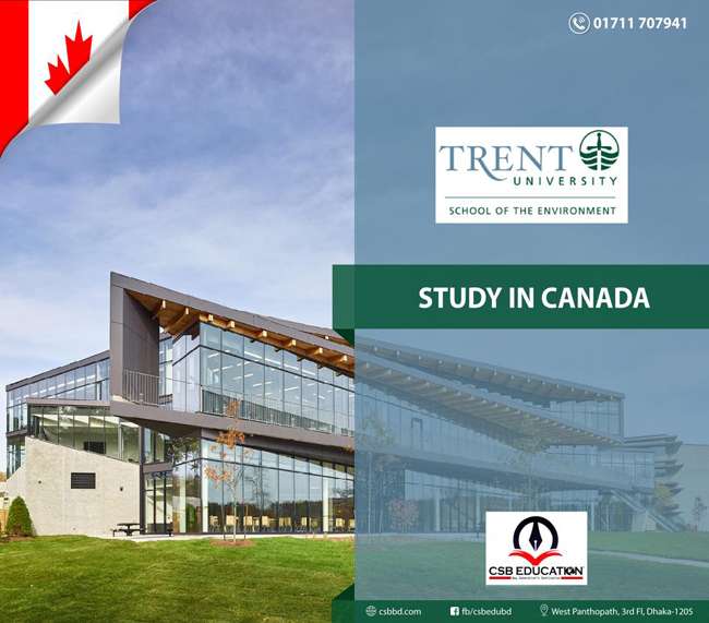 Study in Trent University of Canada with CSB Education