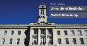 """University of Nottingham Scholarships """