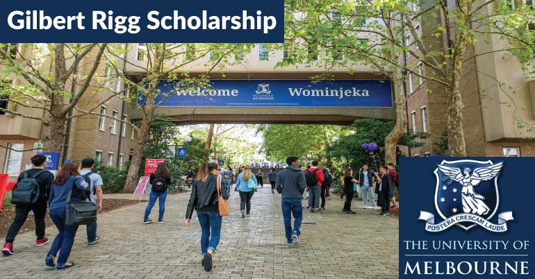 2020 Gilbert Rigg Scholarship in Australia (Worth $90,000)